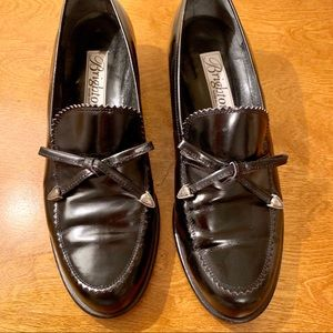 Brighton Leather Bow Loafers